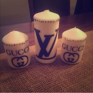 Designer logo candles